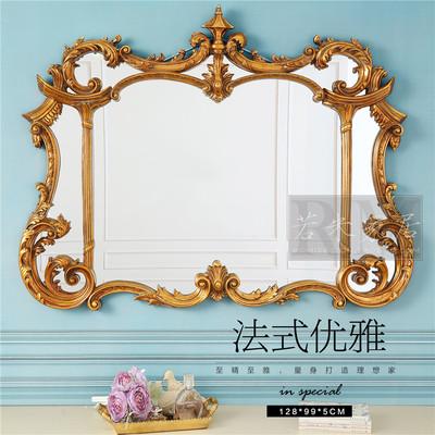 128*99奢华装饰镜金箔横向浴室镜横壁炉镜餐厅挂
