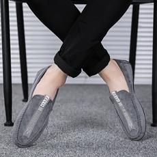 2018新款男鞋子四季豆豆鞋男士休闲鞋韩版低帮套脚懒人鞋豆豆潮鞋