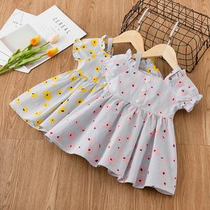 Cô gái ăn mặc 2018 mùa hè mới ăn mặc từ vai in váy trẻ em mặc công chúa váy mùa hè váy