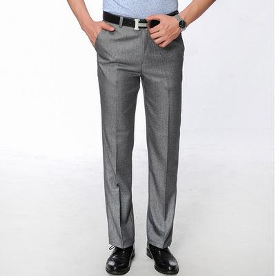 Quần nam mùa hè phần mỏng người đàn ông kinh doanh quần thẳng trung niên thoải mái giản dị đa năng hot phù hợp với quần quần
