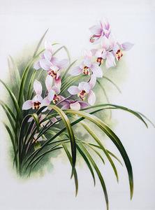 Nổi tiếng cổ thêu nghệ thuật thêu thêu diy kit người mới bắt đầu handmade sơn trang trí màu hồng hoa màu tím 30 * 40 CM