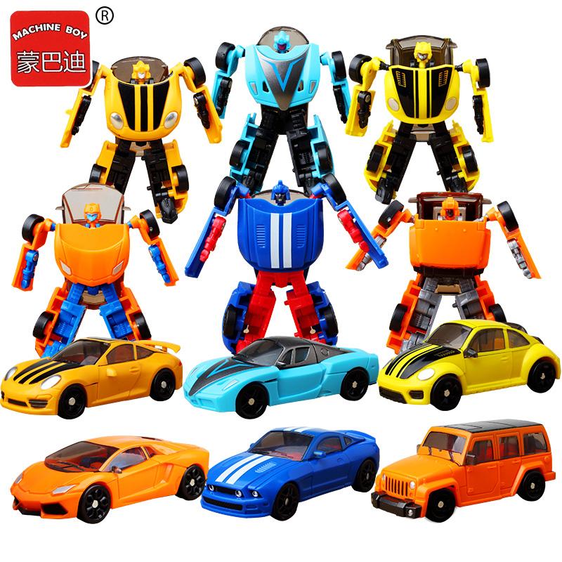 Biến đổi Mini King Kong Thanh tra Optimus Dòng xe thể thao Robot Robot Đồ chơi trẻ em Mẫu nhỏ Quà tặng chính hãng - Gundam / Mech Model / Robot / Transformers