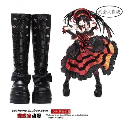 taobao agent Butterfly House Date A Live DATE A LIVE Tokisaki Kuangsan Muffin Martin boots cosplay shoes high boots