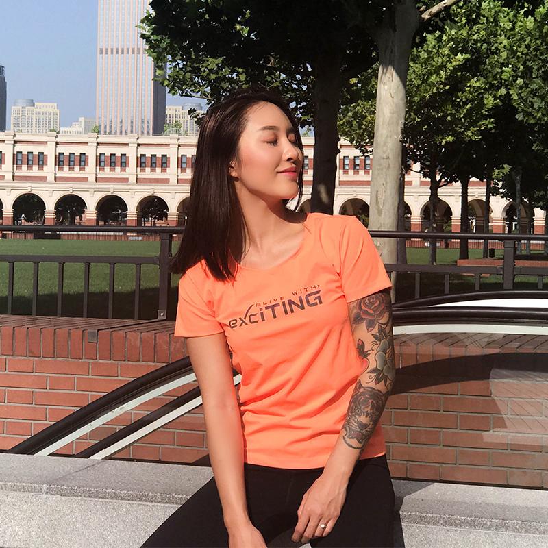 宋昱欣同款速干运动短袖T恤女