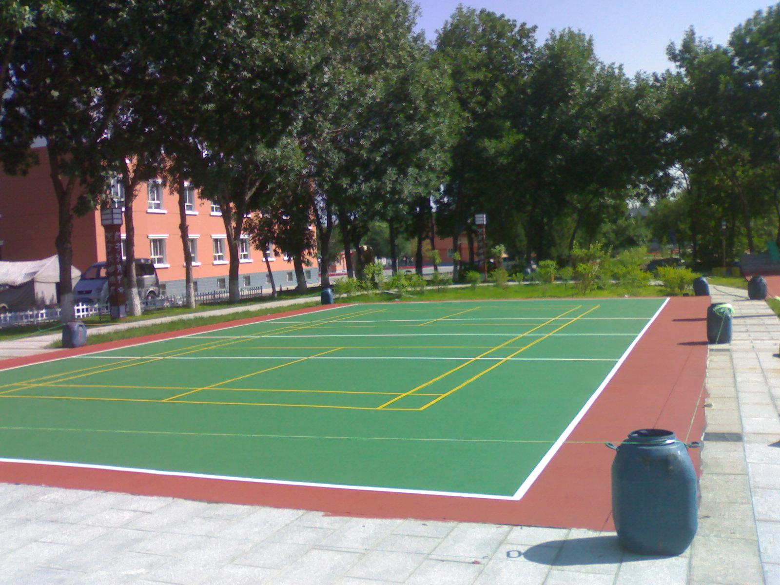 室外丙烯酸篮球场地面材料弹性丙烯酸篮球场涂料地坪漆地板漆球场
