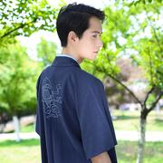 Trở lại Han Tang Jin Sai ban đầu hàng ngày Hanfu của nam giới truyền thống cp những người yêu thích thêu cặp nửa cánh tay mùa hè