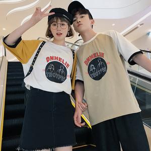 (男装)2018情侣装夏装新款短袖宽松T恤衫班服A358-1115-p38