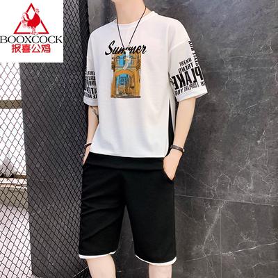 男士短袖t恤潮流休闲两件套