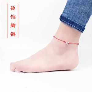 Nhật bản và Hàn Quốc retro handmade Hàn Quốc phiên bản của chuông vòng chân nam giới và phụ nữ phần tốt đơn giản đỏ đen dây da chân dây sinh viên vài