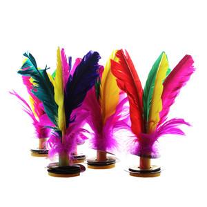 Thể thao ngoài trời màu lông ngỗng trò chơi súc sắc Ryukyu hoa 毽 kháng đá học sinh nữ đồ chơi bán buôn - Các môn thể thao cầu lông / Diabolo / dân gian