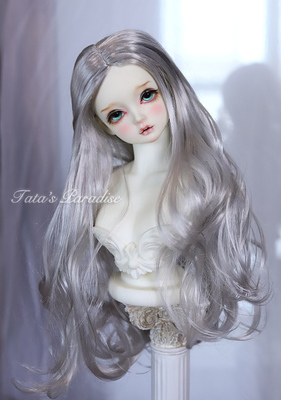 taobao agent 1/6 points 4 points 3 points Uncle giant baby BJD baby wig imitation mohair gray silver crispy long hair