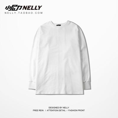 Châu âu và Mỹ thời trang đường phố thương hiệu của nam giới thường skateboard ruồi chết hip hop dài tay T-Shirt retro lỏng Nhật Bản cotton triều tee shop áo thun nam Áo phông dài