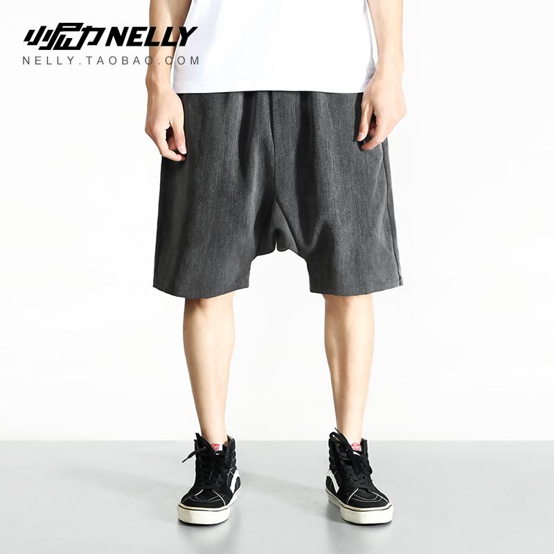 Tối gốc Châu Âu và Mỹ đoạn mỏng mịn màng và tinh khiết màu Harlan năm quần men loose quần mùa hè trượt ván quần short