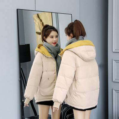 2021年冬季新款棉袄女装韩版ins面包羽绒棉服反季短款棉衣外套潮