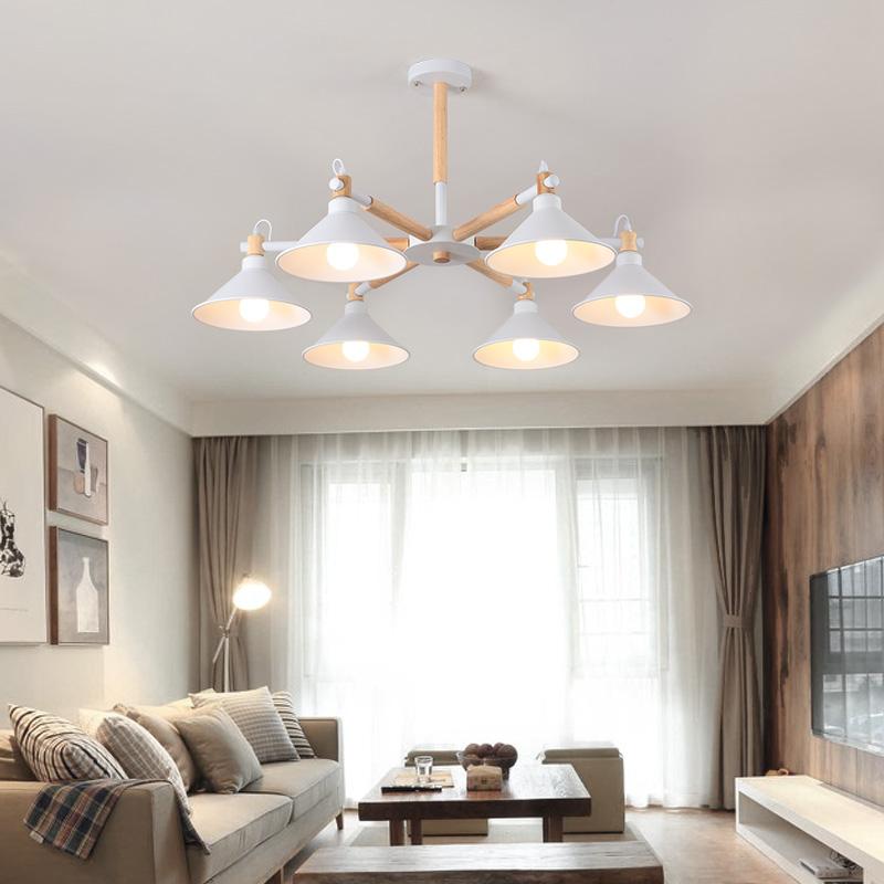 吸顶灯客厅简约现代马卡龙灯罩北欧餐厅灯具实木个性创意彩色吊灯