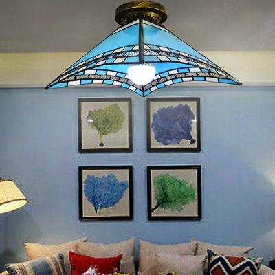 地中海玄关方形现代简约灯个性创意书房卧室阳
