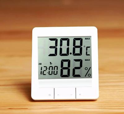 高精度温湿度计家用台式温度表带闹钟 券后11元起包邮