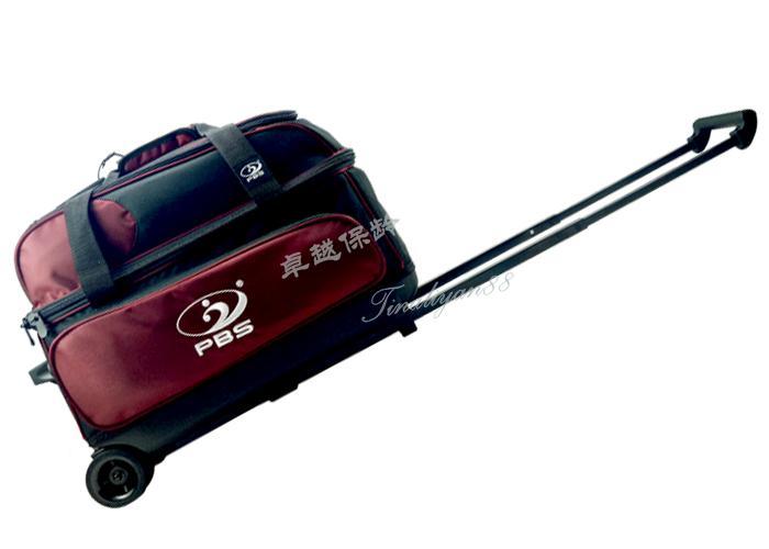 2017 new boutique 1680 DPBS bóng đôi drawbar bowling túi bowling bag hai túi bóng rượu vang đỏ