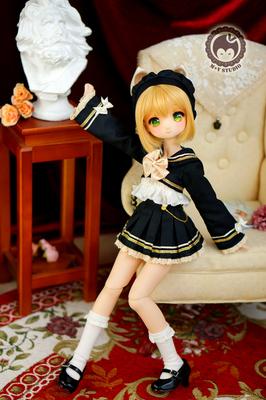 taobao agent 【Meow House】Magic trainee uniform school uniform JK black gold cute baby clothes 4 points MDDMSDBJD spot