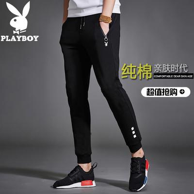Playboy mùa hè mỏng của nam giới thường quần Hàn Quốc xu hướng quần mỏng bông in thể thao quần Quần mỏng