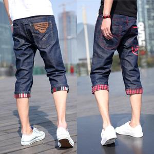 Của nam giới tám quần mùa hè quần nam quần mỏng của nam giới cắt quần mùa hè quần 8 điểm jeans 7