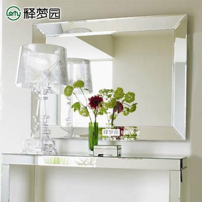 素面现代镜子 玄关镜 浴室镜 化妆镜 欧式方形