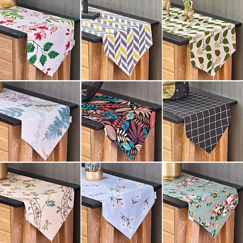 Bắc âu cotton và linen bảng cờ vải Mỹ nhỏ tươi tủ TV khăn trải bàn Nhật Bản phong cách bàn cà phê bảng cờ giường cờ giày vải