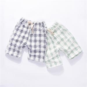 [Giải phóng mặt bằng] trẻ em bông và vải lanh quần short mùa hè nam bé quần cô gái mùa hè quần áo bé trai quần năm quần bãi biển quần