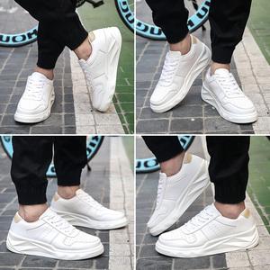 秋款英伦风厚底增高板鞋韩版学生潮鞋运动休闲鞋男秋季耐磨男鞋子