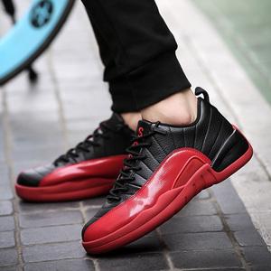秋季篮球鞋男低帮耐磨男士运动鞋男鞋透气球鞋战靴黑红百搭潮鞋