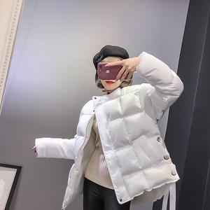 8608#实拍现货2017秋冬新款韩版手塞羽绒棉短款外套侧面抽绳设计