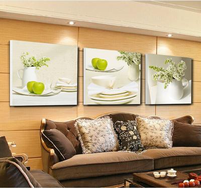 客厅餐厅卧室装饰三联画卷后7.9元起包邮