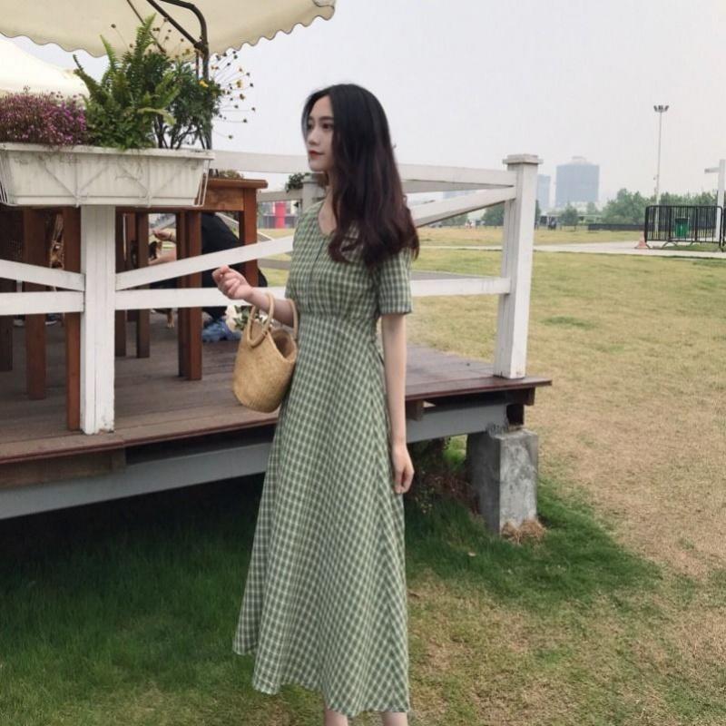 夏小清新女装裙子女学生韩版长裙