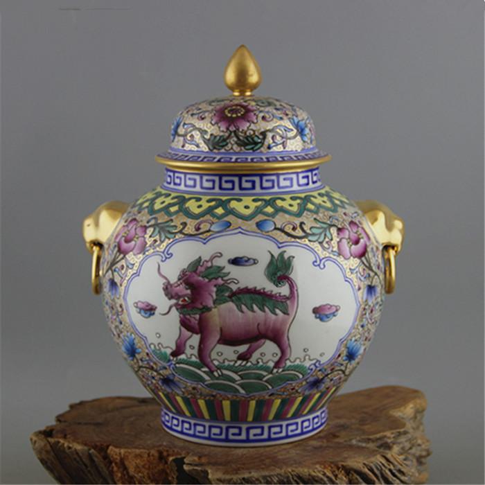 珐琅彩茶叶罐