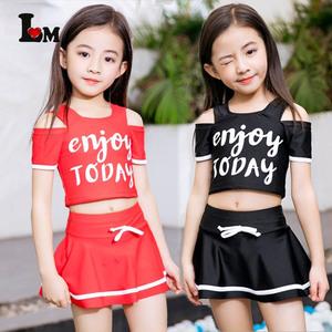 Zhongda trẻ em đồ bơi cô gái Hàn Quốc Fan trẻ em 12-15 tuổi Hàn Quốc phiên bản của hai mảnh phù hợp với 5 Công Chúa mô hình bốn nhỏ sinh viên tươi