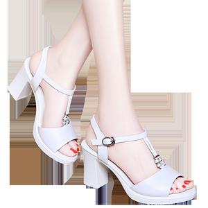 专柜正品 粗高跟休闲鞋 女凉鞋DS12-6291P130 最低销售价168
