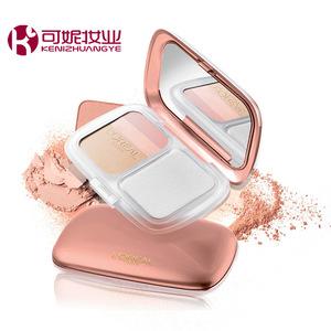 Truy cập chính hãng L'Oreal make-up Qi Huanguang Màu Nhạy Cảm ba màu sáng làm trắng bột kem che khuyết điểm trang điểm kéo dài