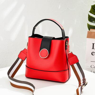 【淑女芭莎】新款小包包甜美淑女时尚女包斜挎单肩手提包水桶包