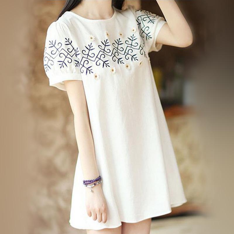 Mùa hè mới thai sản váy ngắn tay cotton dễ thương phim hoạt hình in dài lỏng T-Shirt của phụ nữ áo triều thời trang