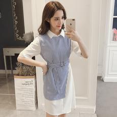 907#实拍2018全智贤明星同款新款女装春装两件套衬衫