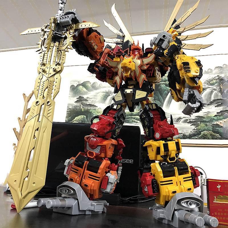 Đồ chơi biến hình King Kong 8879 Jinbao Lao lên bầu trời Robot kết hợp khổng lồ sáu trong một mô hình siêu lớn - Đồ chơi robot / Transformer / Puppet cho trẻ em