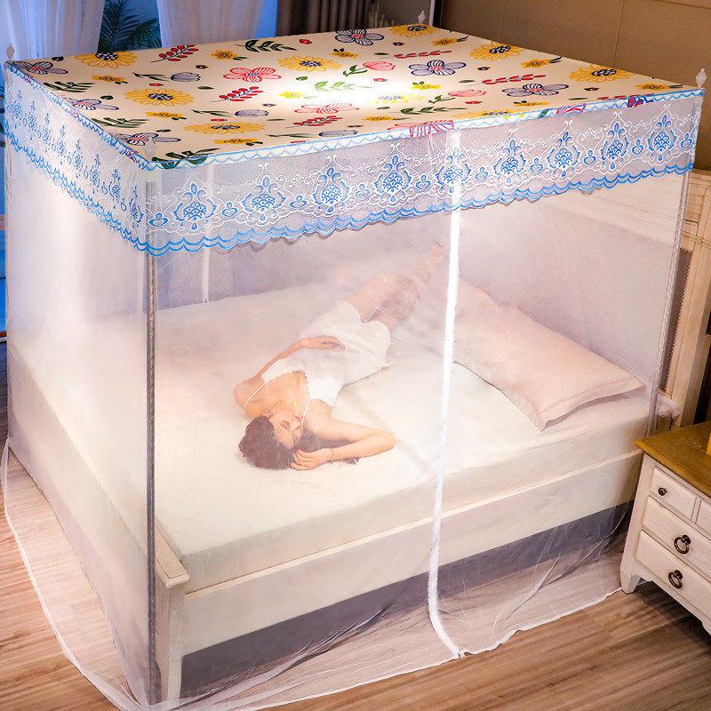 新款蚊帐防尘蚊帐家用加厚密拉链式蚊帐双人