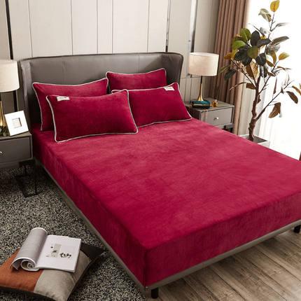床笠单件水晶绒床罩榻榻米加绒保暖床单