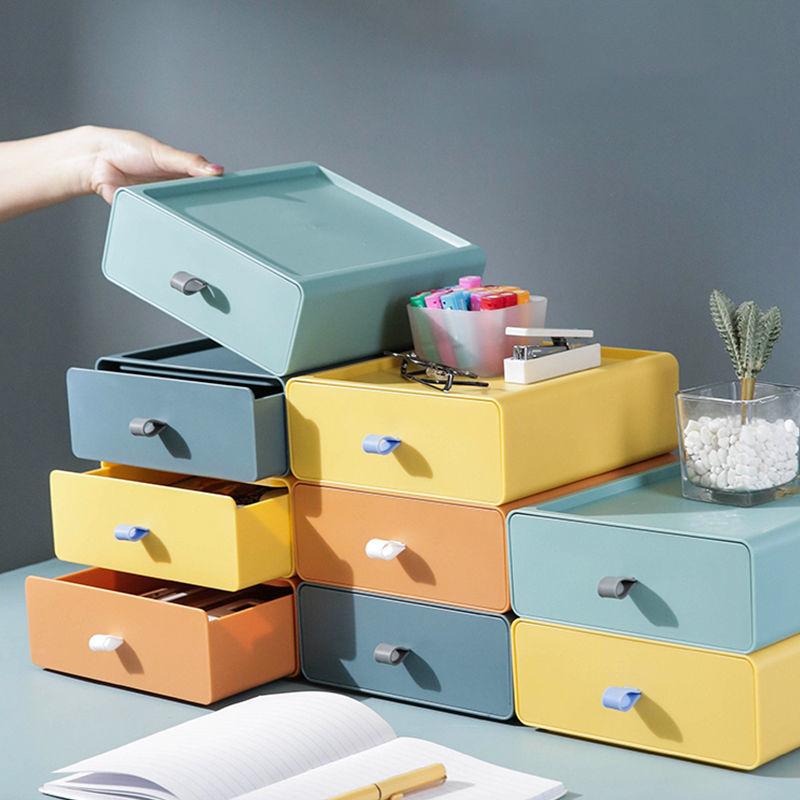 抽屉式桌面收纳盒化妆品置物架办公室书桌上学生宿舍神器储物小柜