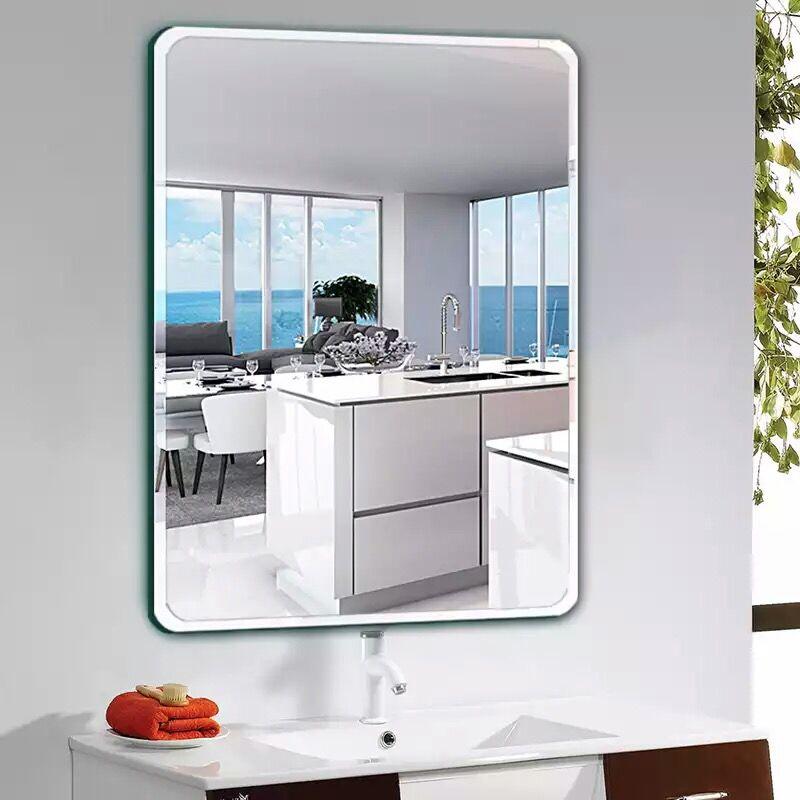 防暴浴室卫生间浴室贴墙镜子化妆镜壁挂镜