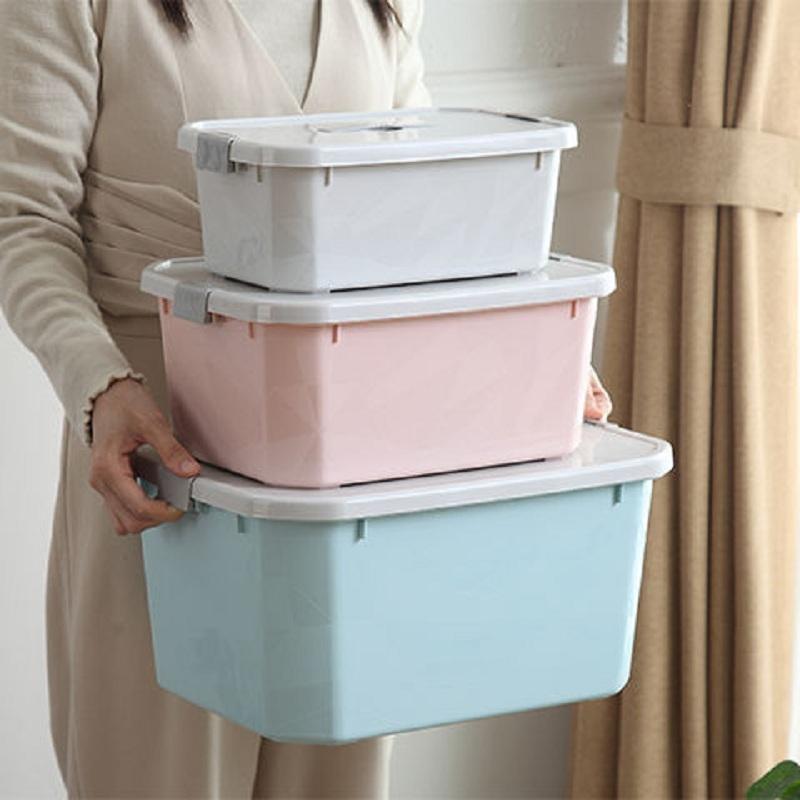 收纳箱塑料收纳盒大号小号杂物收纳零食玩具杂物箱储物箱车载家用