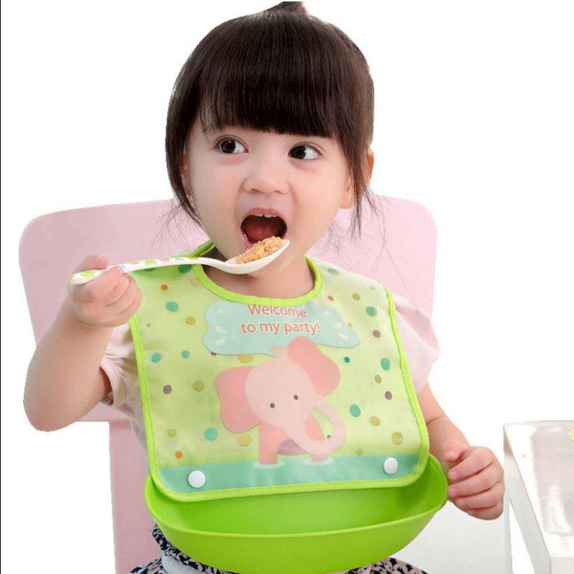 宝宝吃饭围兜口水兜儿童食饭兜围嘴防水婴儿吃饭兜幼儿大号食饭兜