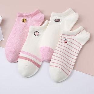 猫人袜子女纯棉短袜春夏季抗菌运动透气可爱