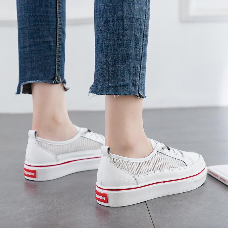 2019夏季新款透气小白鞋女网面休闲跑步板鞋基础百搭学生韩版女鞋