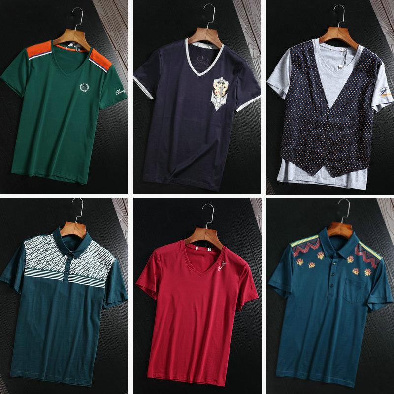 Phúc lợi lớn giao hàng mùa hè phần mỏng T-Shirt nam ngắn tay kinh doanh bình thường thanh niên hoang dã nửa tay áo t-shirt cắt tiêu chuẩn của nam giới quần áo